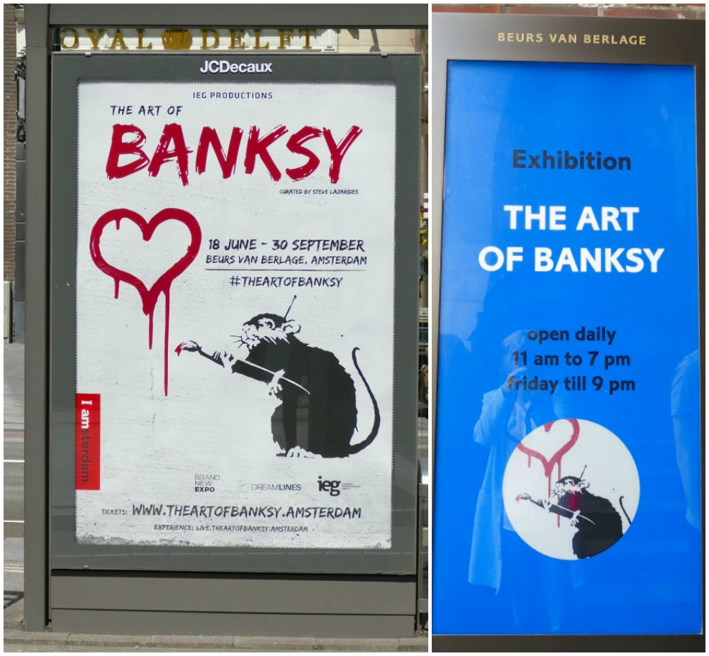 Posters for The Art of Banksy in Amsterdam  curlytraveller.com