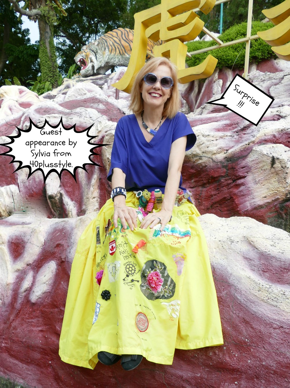 Sylvia from 40plusstyle in the Yellow Skirt Singapore |curlytraveller.com