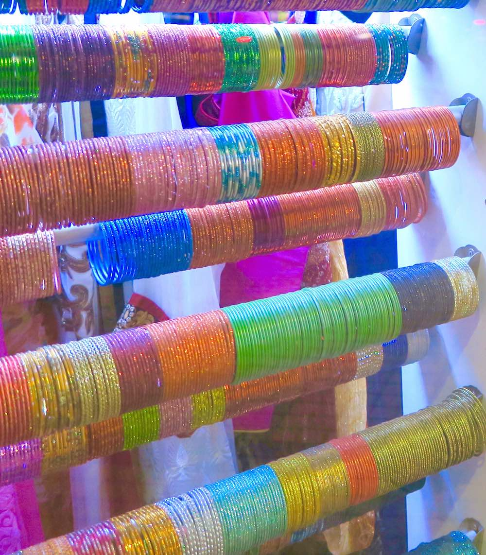 Colorful bangles in Little India Singapore |curlytraveller.com