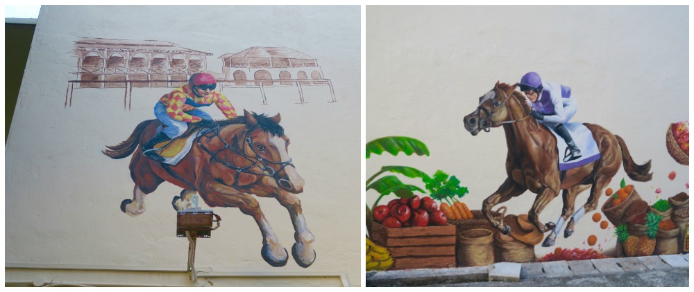 Race course meets Little India in Singapore in this mural |curlytraveller.com