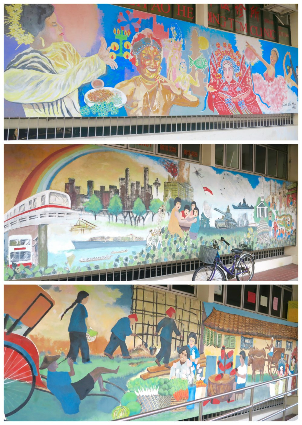 Historic murals in Chinatown Singapore |curlytraveller.com