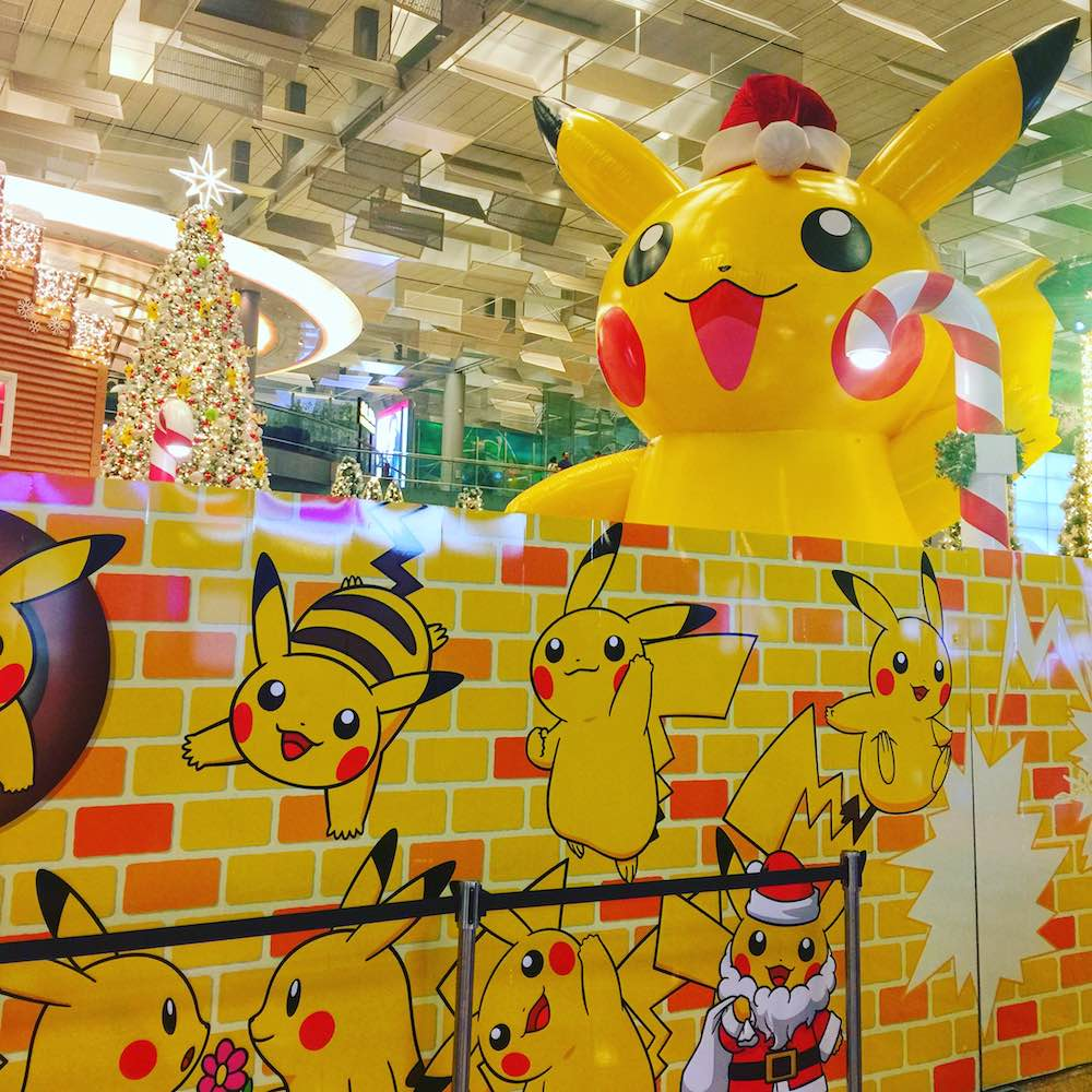 Pikachu Christmas at Changi Airport |curlytraveller.com