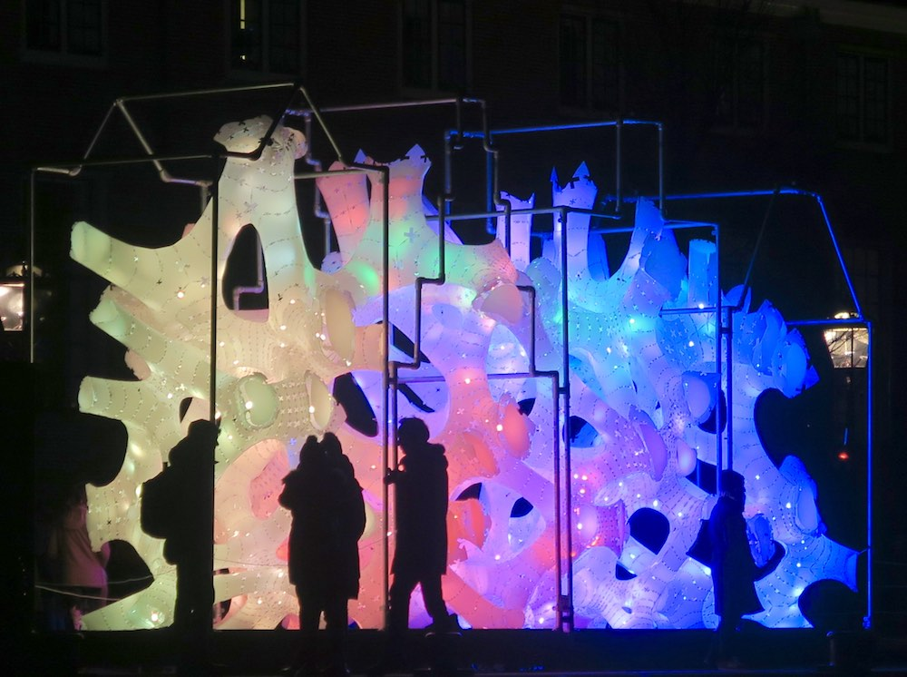 Light installation at Amsterdam Light Festival 2016 |curlytraveller.com