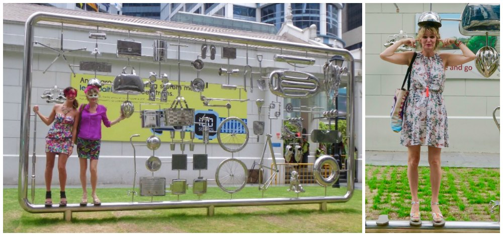 Art installation at Raffles place Singapore |curlytraveller.com