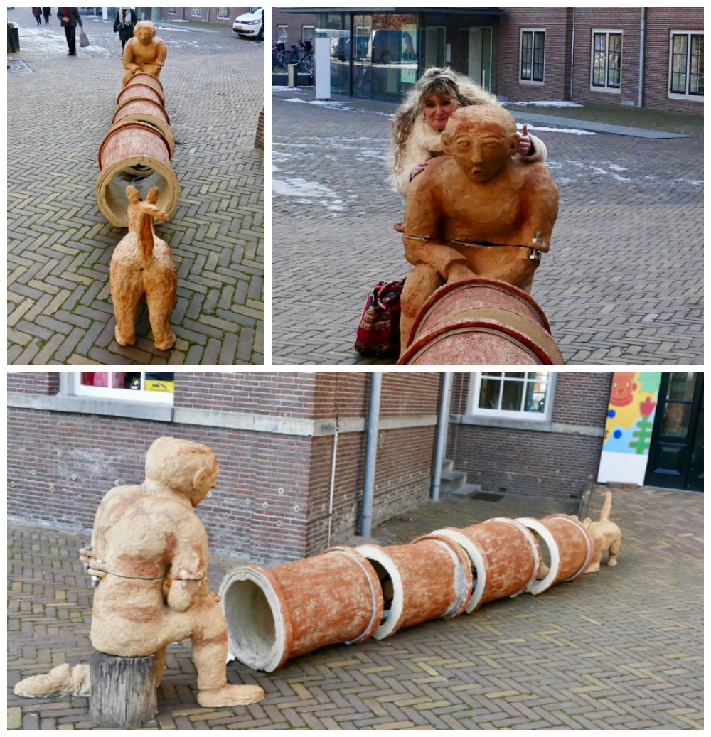 Sculptures next to the Hermitage in Amsterdam |curlytraveller.com