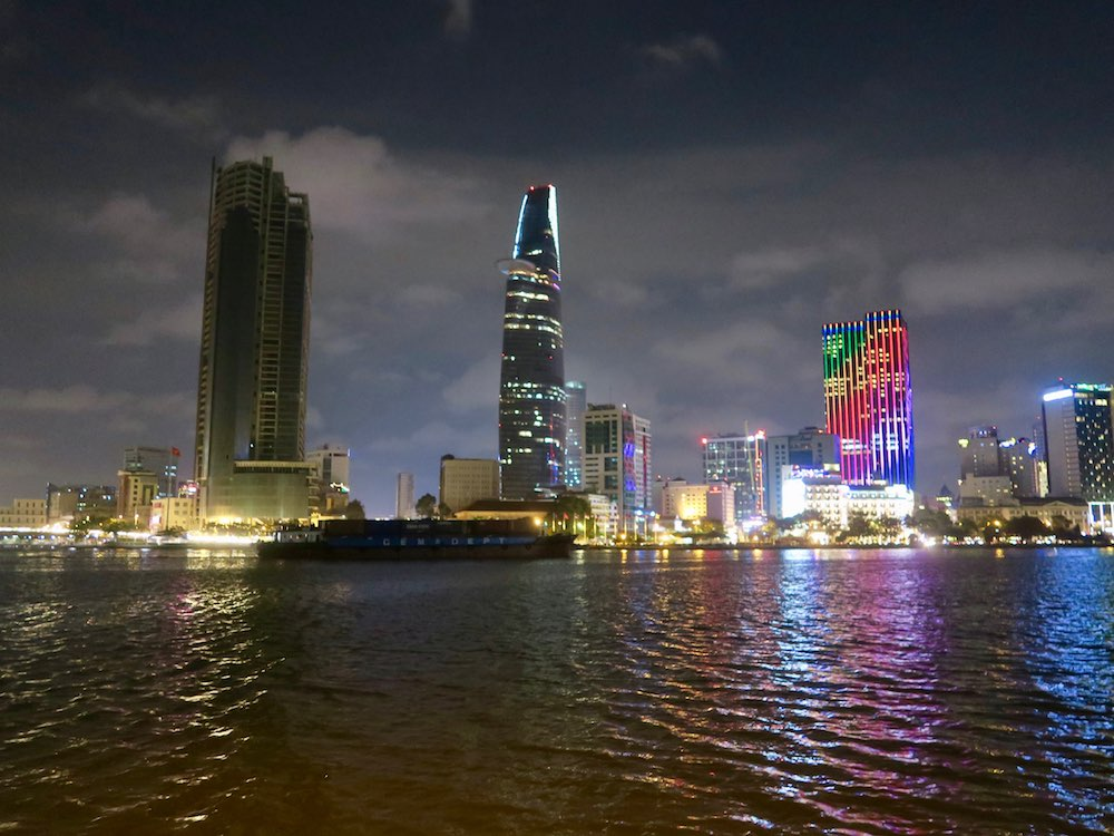 Saigon skyline by night |curlytraveller.com