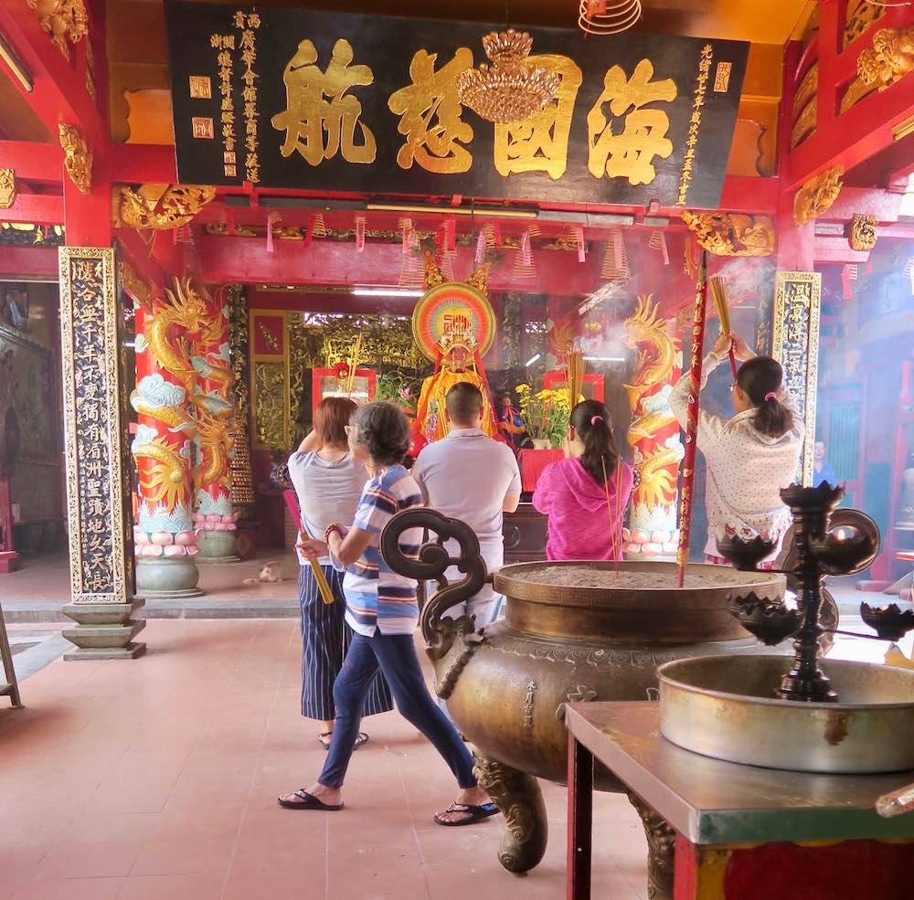 In a temple in ChoLon in Saigon |curlytraveller.com