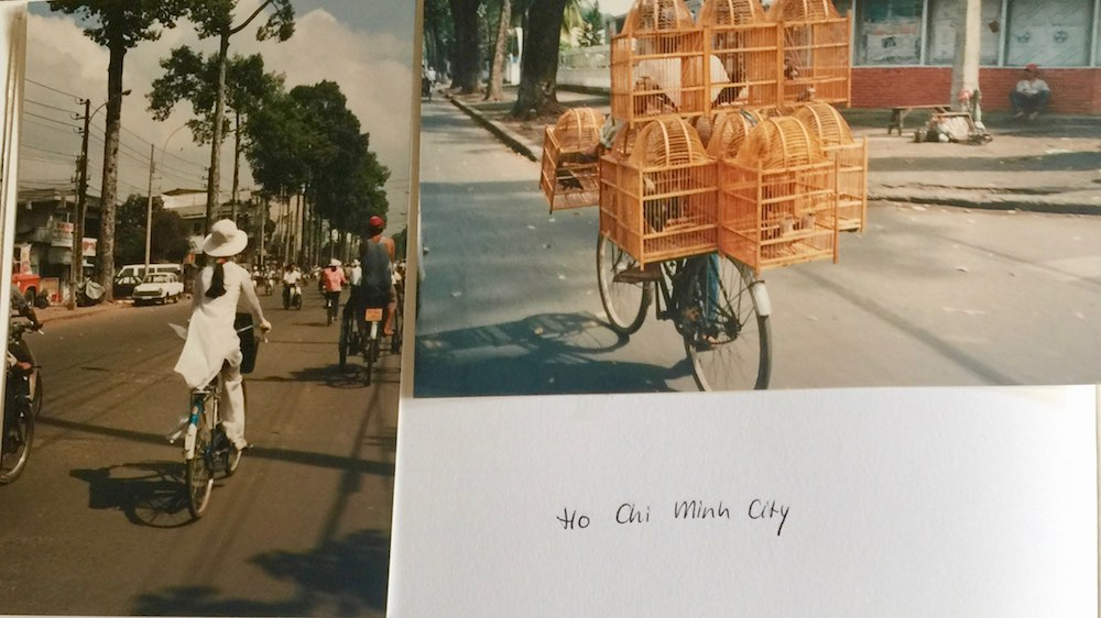 Bikes in Saigon in 1993 |curlytraveller.com