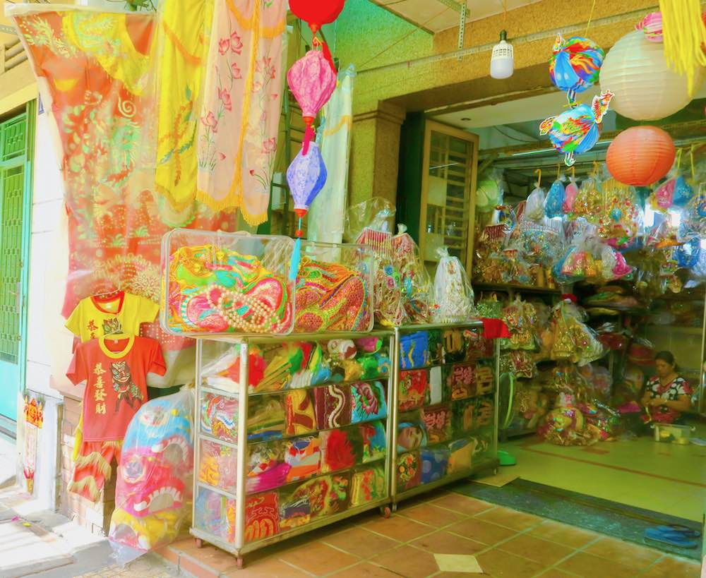 Chinese religious items in store in Cholon |curlytraveller.com