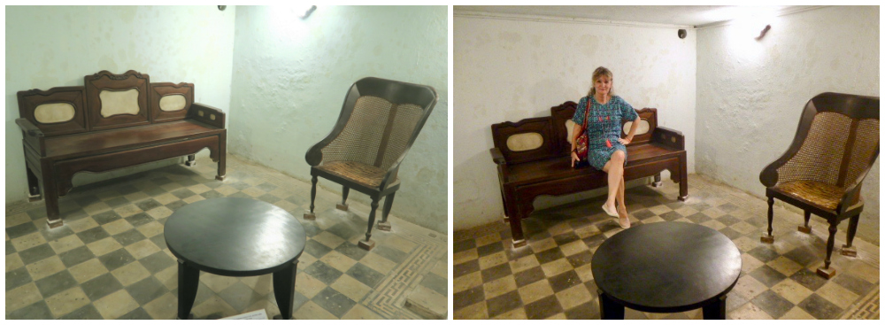 Living room in air raid shelter at Ho Chi Minh City Museum |curlytraveller.com