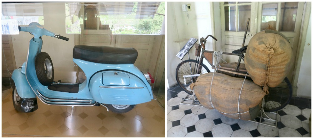 Vintage transportation at Ho Chi Minh City Museum |curlytraveller.com