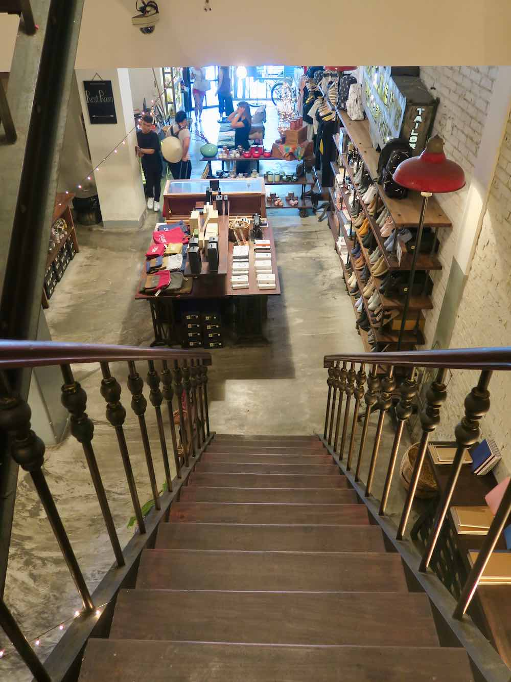 Stairs from the shop to the Cafeteria in L'Usine le Loi Saigon |curlytraveller.com