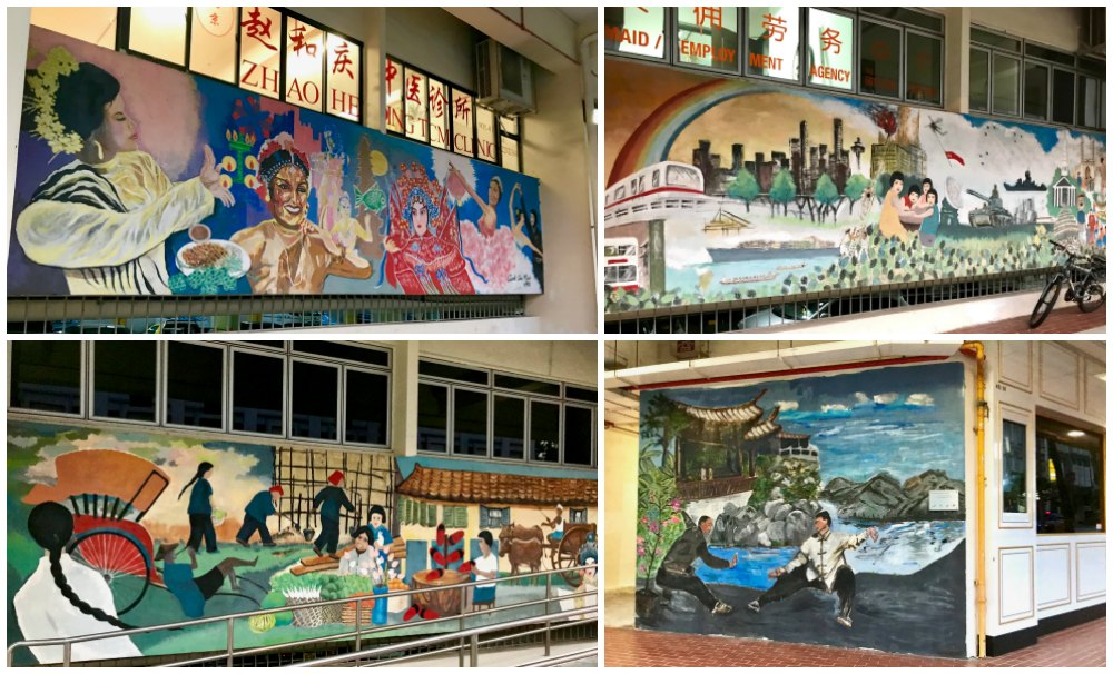 Series of murals in Chinatown Singapore |curlytraveller.com