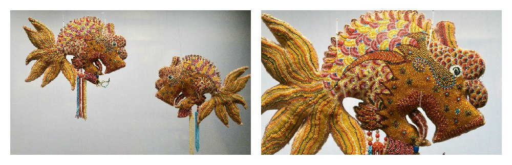 Beaded Peranakan fish at Peranakan Museum Singapore |curlytraveller.com