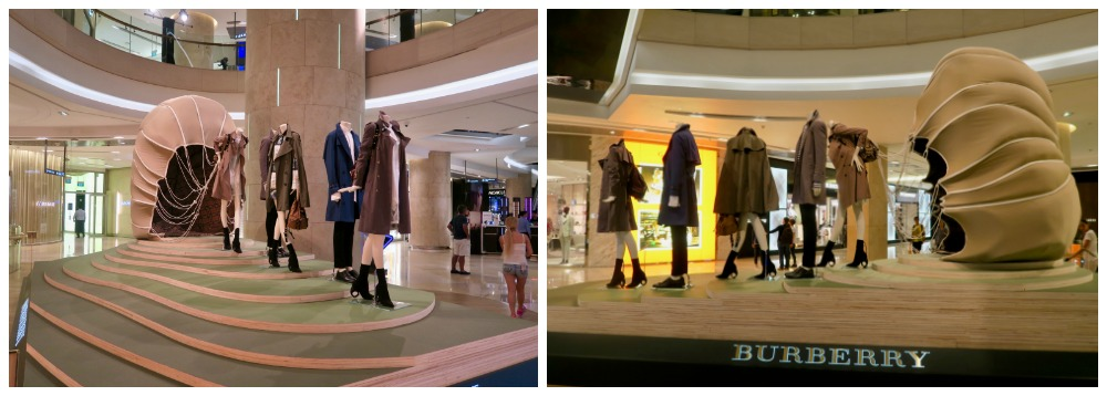 Burberry display in ION Orchard |curlytraveller.com