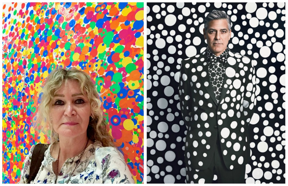 Woman and man surrounded by polka dots a la Kusama |curlytraveller.com