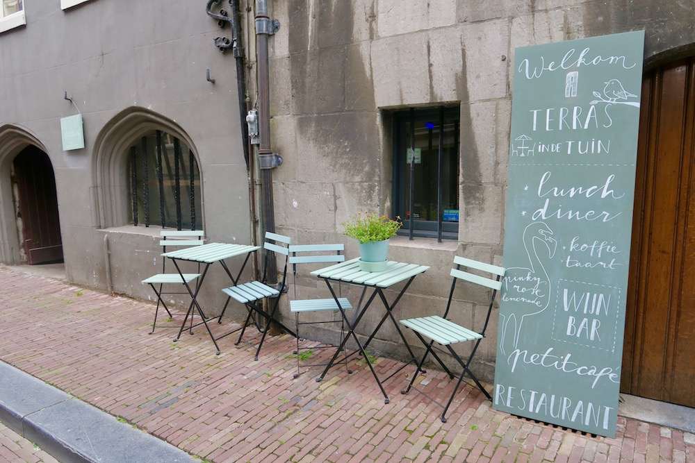 Tables and chairs on the streets of Dordrecht |curlytraveller.com