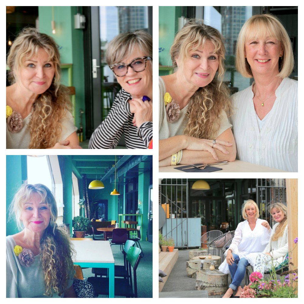 Three women in restaurant Frisk aan het Spaarne |curlytraveller.com