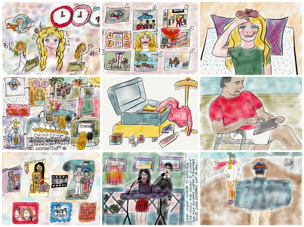 Autobiographic sketches made with Paper53 |curlytraveller.com