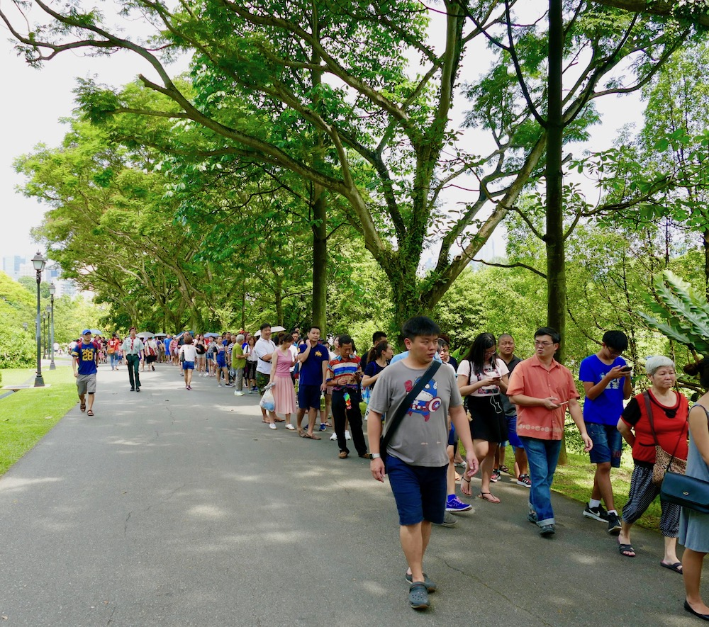 Endless queue at the Istana in Singapore |curlytraveller.com