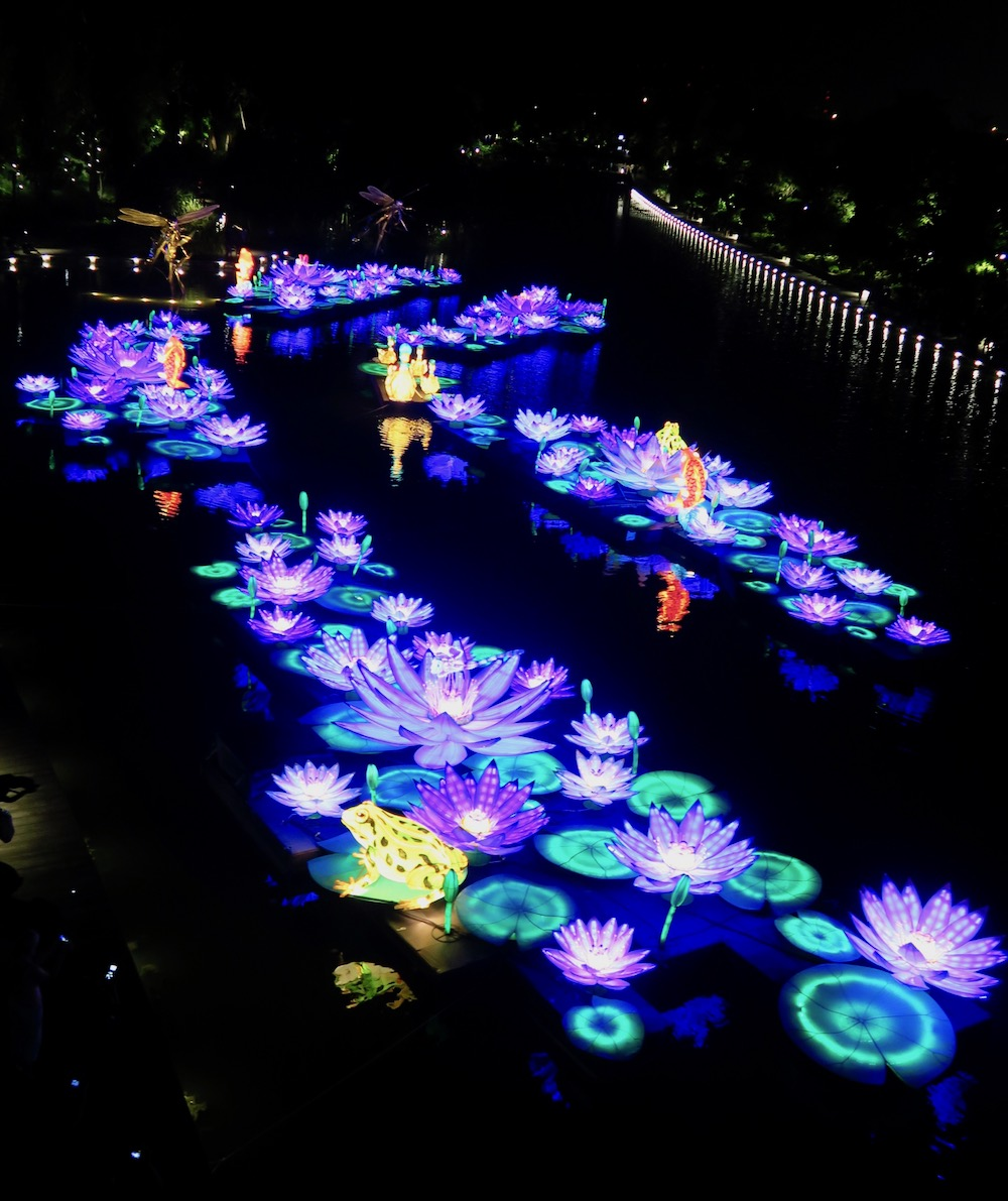 Lily leave lanterns in Gardens by the Bay during Mid Autumn this year |curlytraveller.com