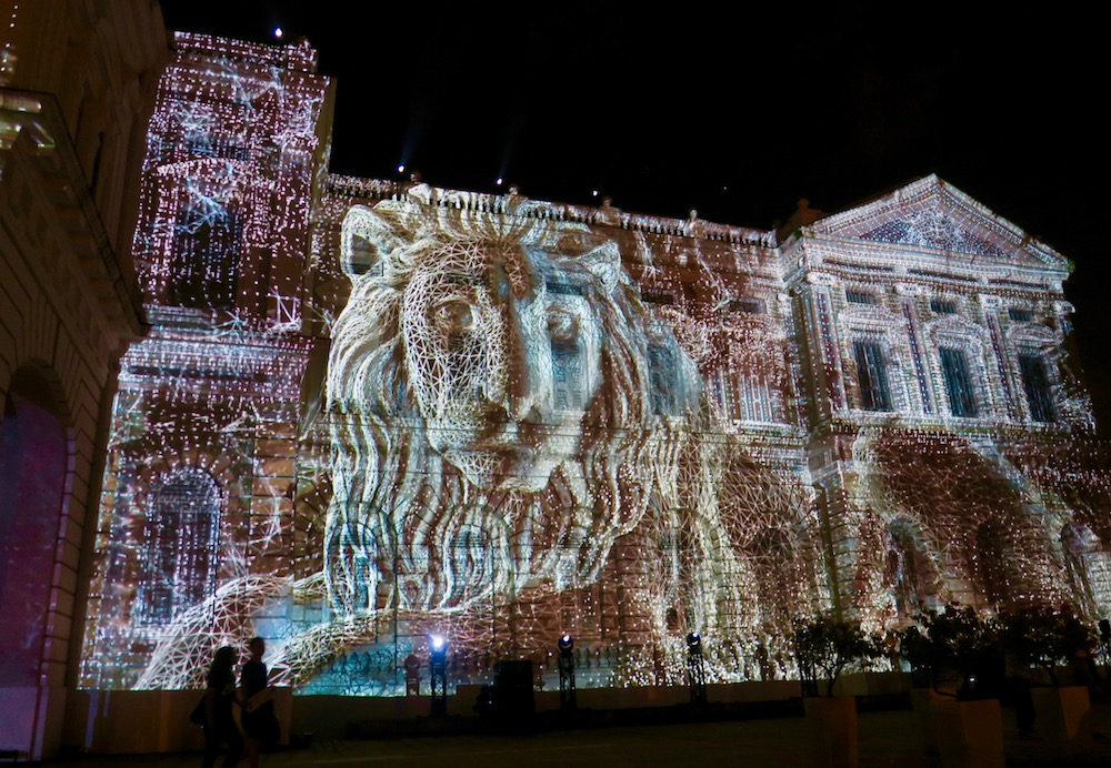 Facade of the National Museum Singapore during the Night Festival 2017 |curlytraveller.com