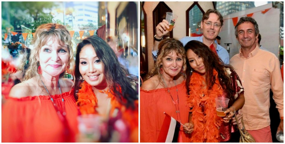 Dutchies in orange at King's Day in Singapore |curlytraveller.com