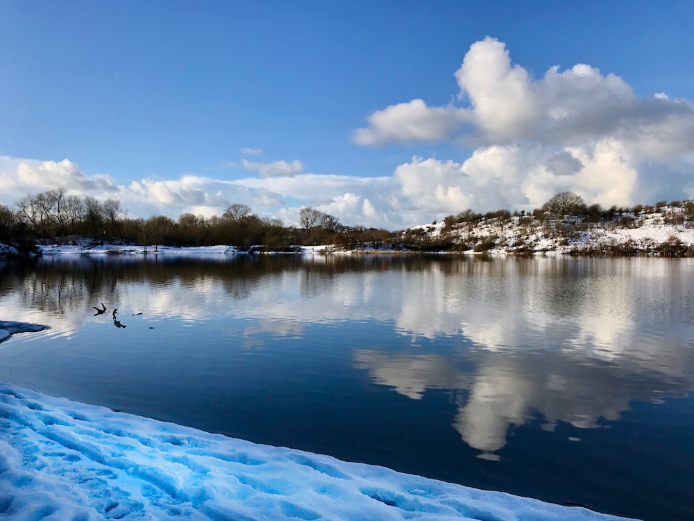 Oosterplas with snow |curlytraveller.com
