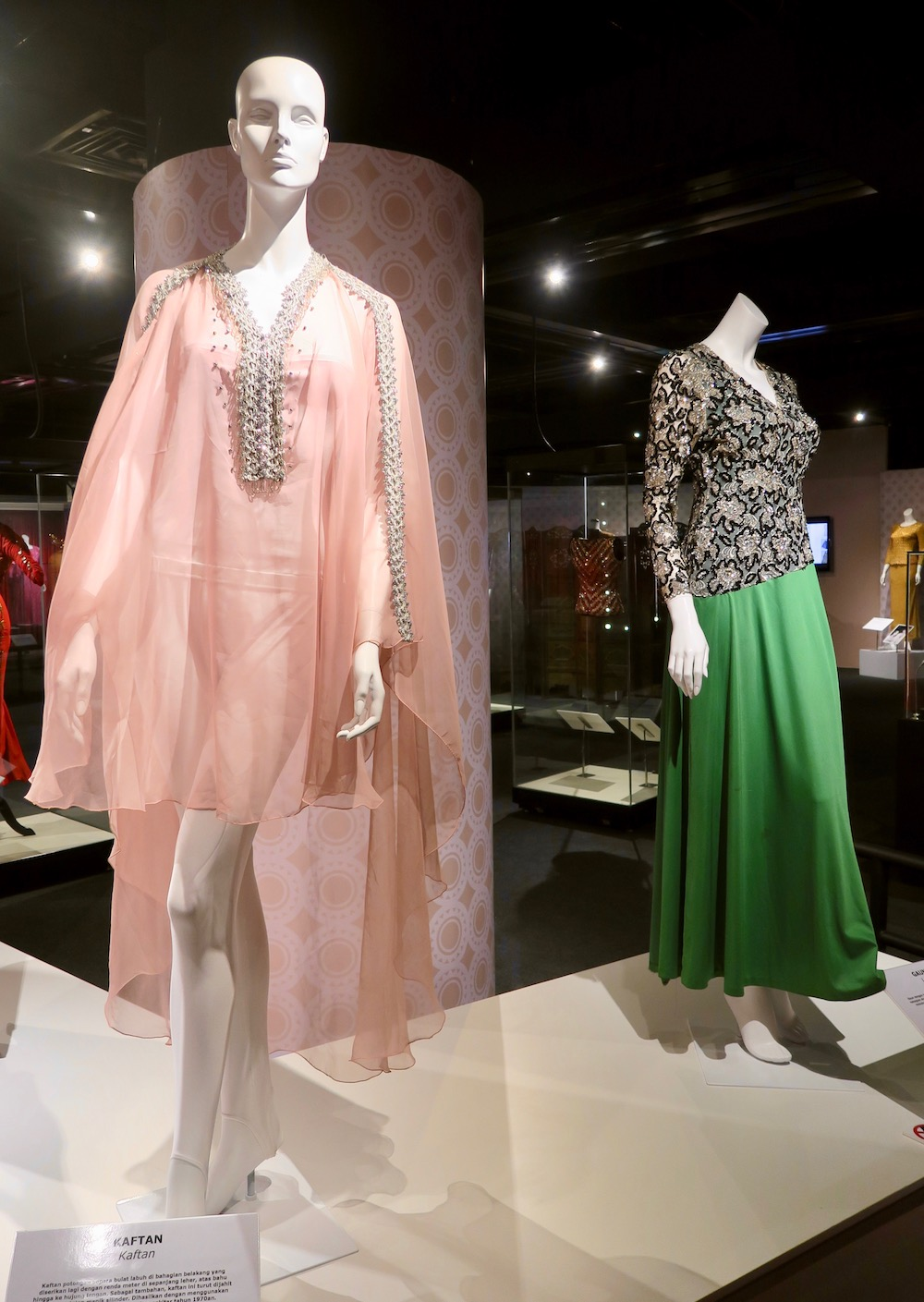 Two garments of Saloma on display  curlytraveller.com