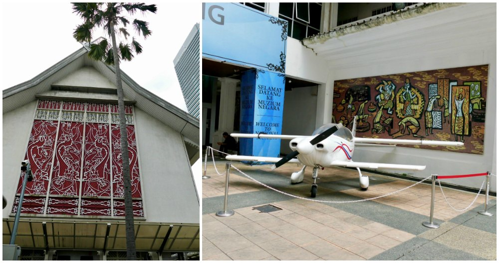 Small plane in front of National Museum Kuala Lumpur  curlytraveller.com