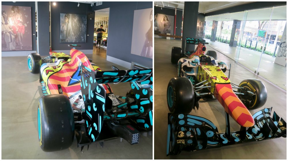 Race car art in museum Singapore |curlytraveller.com