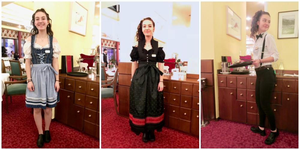 Hotel staff in costume at Hotel Post St. Anton |curlytraveller.com