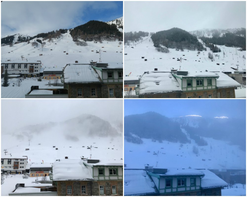 Different weather conditions on the slopes of St. Anton |curlytraveller.com