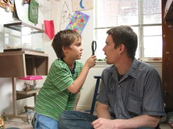 Ellar Coltrane and Ethan Hawke in 'Boyhood'