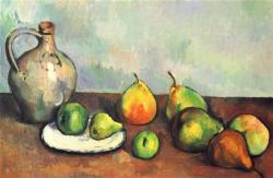 "'Still life, pitcher and fruit"" by Paul Cezanne (1894)"