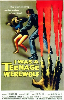 I Was A Teenage Werewolf - monster movie