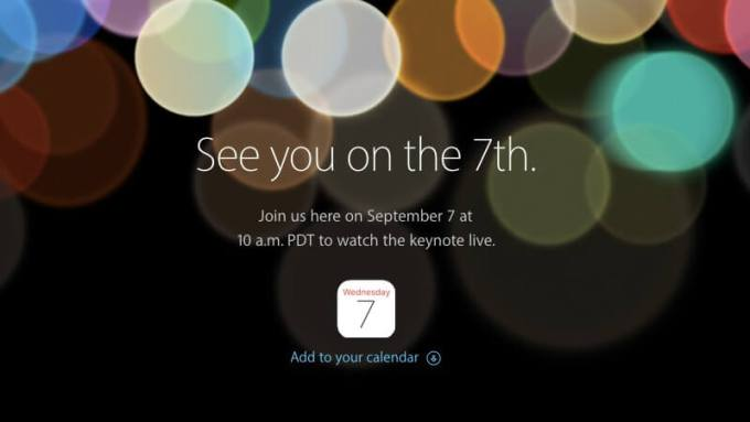 Apple Special Event on Sep. 7th, 2016