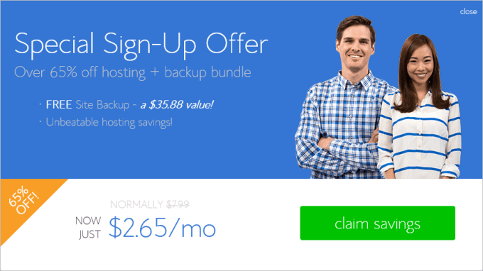 Bluehost Special Offer2