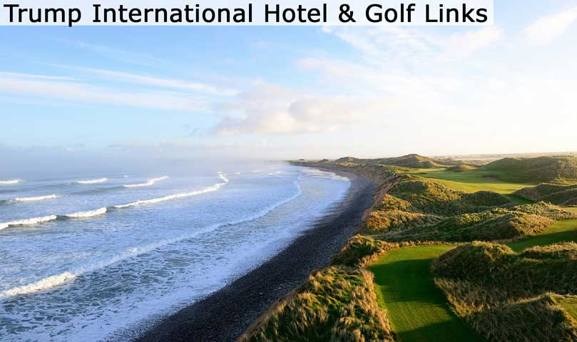 Hyperlink to the Trump International Hotel & Golf Links web page