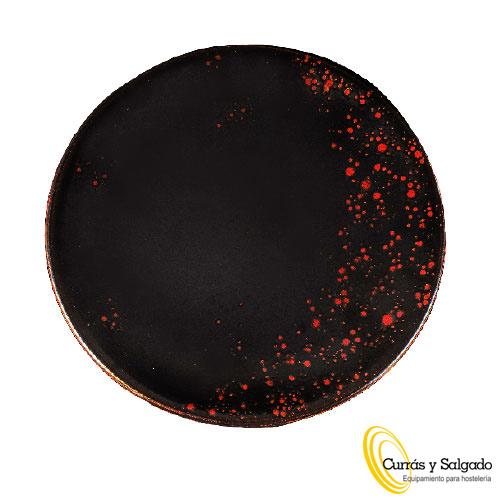 Plato llano de presentación oxidum red tamaño 32 cm.