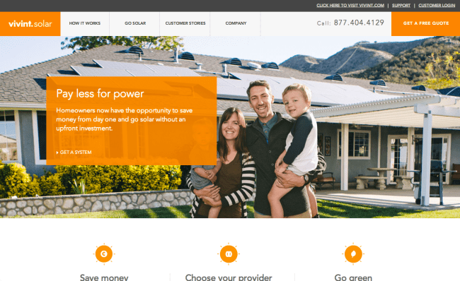brilliant solar website design