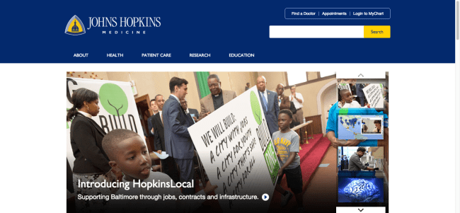 Johns Hopkins Medicine Homepage