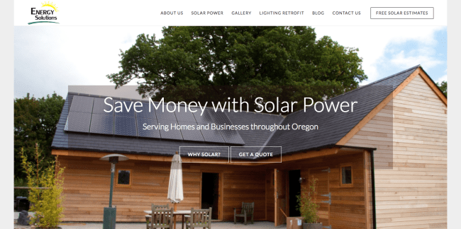 Energy Solutions website