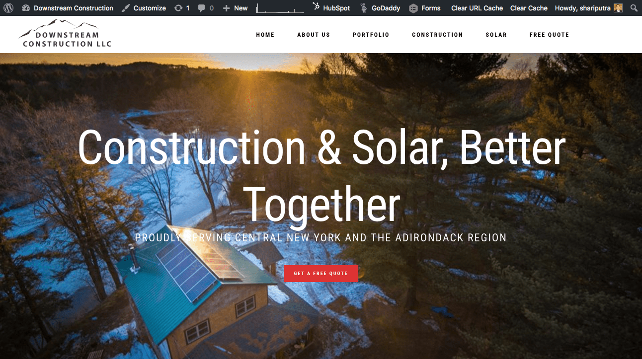 Downstream Construction website