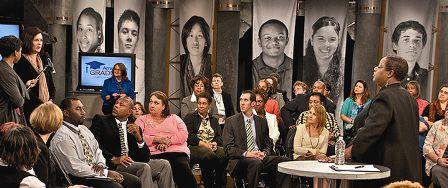 A Teacher Town Hall meeting at WHRO.