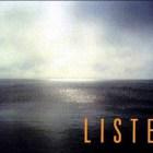Meyerowitz photo of ocean with headline LISTEN in orange
