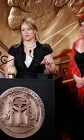 "NPR Correspondent Laura Sullivan and former investigations chief Susanne Reber accept a 2012 Peabody Award honoring their three-part investigation, ""Native Foster Care."""