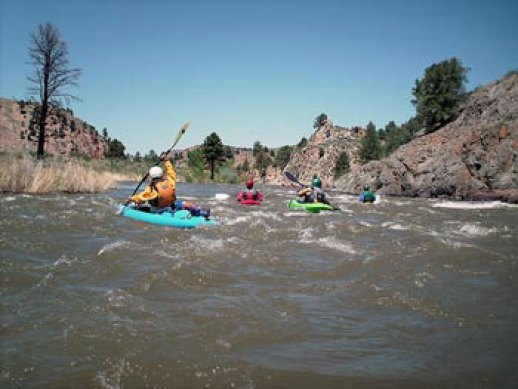 East Fork Carson River kayak camping trip with Current Adventures Kayak School