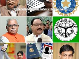 Latest Current Affairs Today – April 10 2017