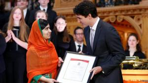 Nobel Peace laureate Malala Yousafzai becomes honorary Canadian citizen